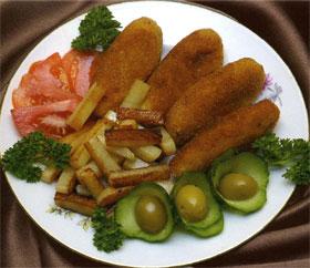 Колбаски рыбные