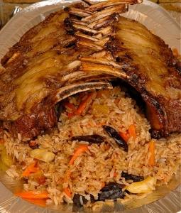 Рис с корейкой ягненка