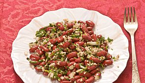 Средиземноморский салат из фасоли