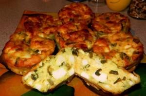Сырники с луком и яйцом